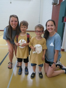 5-6 Boy's camper of the week and runner-up with Emily and Elizabeth, their college counselors