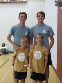 9-10 Boy's camper of the week and runner-up with Riley and Jacob, their college counselors