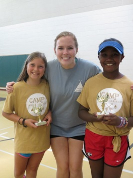 9-10 Girl's camper of the week and runner-up with Sarah, their college counselor
