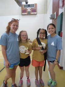 11-13 Girl's camper of the week and runner-up with their college counselors