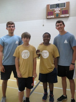11-13 Boy's camper of the week and runner-up with Sebastian and Matt, their college counselors